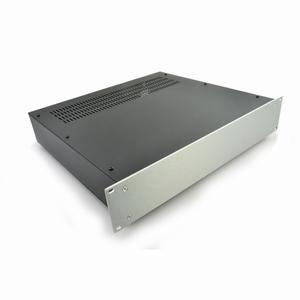 "MODU Pesante 1PS02P400B, 2U/19""  silver front, 400mm deep"
