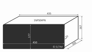 MODU Pesante 1NPS04PN, 10mm  black front, 300mm deep