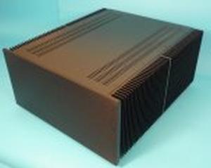 MODU Dissipante 1NPD05500N, 10mm zwart front, diepte 500mm<br />Price per piece