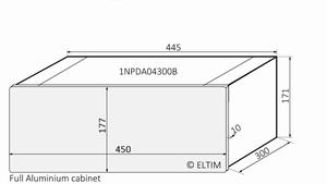 MODU Dissipante 1NPDA04300B, 10mm zilver front, FA, 300mm<br />Price per piece