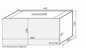 MODU Dissipante 1NPDA05300B, 10mm  silver front, 300mm FA