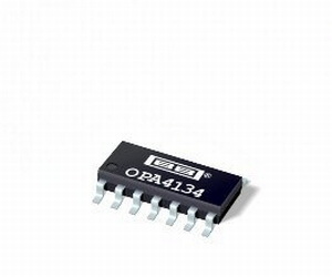 BURR-BROWN/TI OPA-4134UA, quad operational amplifier, SO14
