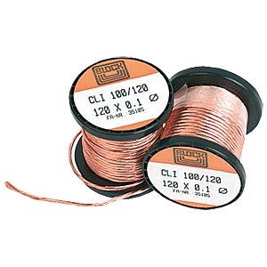 Copper Litze wire, 30x0,1mm, 200g, 96m<br />Price per roll