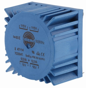TALEMA Toroidal transformer, 25VA, 2x115V>2x18V<br />Price per piece