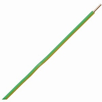 Installation wire, massive, grn/yell., 1,5mm2