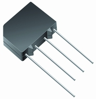 Bridge rectifier, 2A, 100V KBPM, -ww+