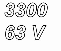 MUNDORF MLGO, 3300uF, 63Vdc, 125ºC, Power Cap