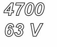 MUNDORF MLGO, 4700uF/63V, ±20%, Electrolytic capacitor