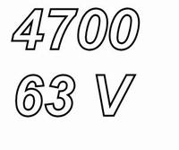 MUNDORF MLGO, 4.700uF, 63Vdc, 125ºC, audio grade+