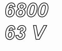 MUNDORF MLGO, 6.800uF, 63Vdc, 125ºC, Power Cap