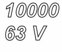 MUNDORF MLGO, 10000uF/63V, ±20%, Electrolytic capacitor
