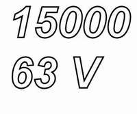 MUNDORF MLGO, 15000uF/63V, ±20%, Electrolytic capacitor