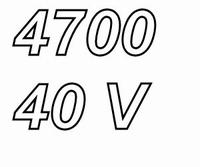 MUNDORF MLGO, 4700uF/40V, ±20%, Electrolytic capacitor