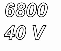 MUNDORF MLGO, 6800uF/40V, ±20%, Electrolytic capacitor
