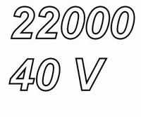 MUNDORF MLGO,  22.000uF, 40Vdc, 125ºC, audio grade+