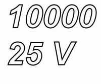 MUNDORF MLGO, 10000uF/25V, ±20%, Electrolytic capacitor