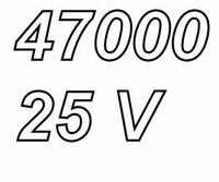 MUNDORF MLGO, 47.000uF, 25V, 125ºC, audio grade+