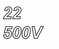 MUNDORF high voltage capacitor 22uF, 500Vdc, radial