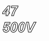 MUNDORF high voltage capacitor 47uF, 500Vdc, radial