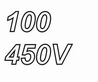 MUNDORF MLGO, 100uF/450V, ±20%, Electrolytic capacitor