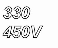 MUNDORF MLGO, 330uF/450V, ±20% Electrolytische Kondensator<br />Price per piece