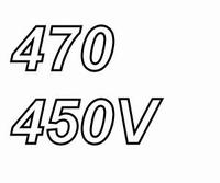 MUNDORF MLGO, 470uF/450V, ±20%, Electrolytic capacitor