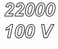 MUNDORF MLHC, 22000uF/100V, 20%, Electrolytic capacitor