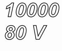 MUNDORF MLHC, 10000uF/80V, 20%, Electrolytic capacitor