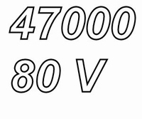 MUNDORF MLHC, 47000uF/80V, ±20%, Electrolytic capacitor