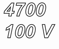 MUNDORF MLGO+, 4700uF/100V ±20%, Electrolytic capacitor