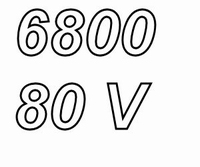 MUNDORF MLGO+, 6.800uF, 80Vdc, 105ºC, audio grade++