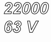 MUNDORF MLGO+, 22000uF/63V, ±20%, Electrolytic capacitor