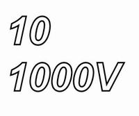 MUNDORF TUBECAP, 10uF/1000V, ±5%, Electrolytic capacitor