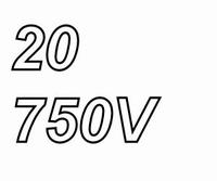 MUNDORF TUBECAP, 20uF/750V, 5%, Electrolytic capacitor<br />Price per piece
