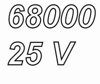 MUNDORF MPC68, 68mF/25V 20%, Electrolytic capacitor