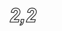 MUNDORF VL250, 2,2mH, ±2% Luftspule, Ø2,5mm OFC Draht, vac.<br />Price per piece