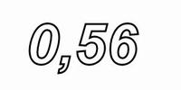 MUNDORF P140, 0,56mH, ±3% ARONIT pijpkern spoel, Ø1,4mm OFC <br />Price per piece