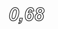 MUNDORF MR5, 0,68Ω,    ±2%, MOX Widerstand, 5W<br />Price per piece