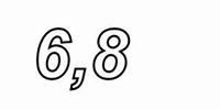 MUNDORF MR5, 6,8Ω,    ±2%, MOX Widerstand, 5W<br />Price per piece