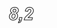 MUNDORF MR5, 8,2Ω,    ±2%, MOX Widerstand, 5W<br />Price per piece