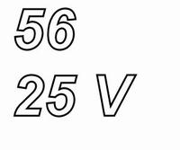 PANASONIC FCA,  56uF/25V electrolytic capacitor, radial, 105