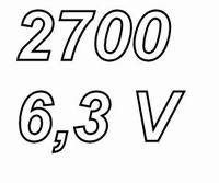 PANASONIC FCA,  2700uF/6,3V electrolytic capacitor, radial,