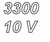 PANASONIC FCA,  3300uF/10V electrolytic capacitor, radial, 1