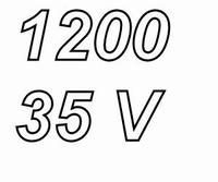 PANASONIC FCA,  1200uF/35V electrolytic capacitor, radial, 1