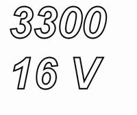 PANASONIC FCA,  3300uF/16V electrolytic capacitor, radial, 1