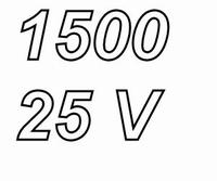 PANASONIC FCA,  1500uF/25V electrolytic capacitor, radial, 1