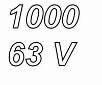 PANASONIC FCA,  1000uF/63V electrolytic capacitor, radial, 1