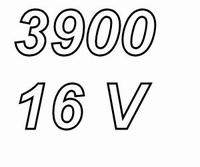 PANASONIC FCA, 3900uF/16V electrolytic capacitor, radial, 10