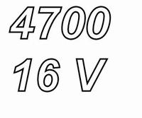 PANASONIC FC, 4700uF/16V Radial electrolytic capacitor