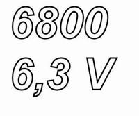 PANASONIC FCA, 6800uF/6,3V electrolytic capacitor, radial, 1